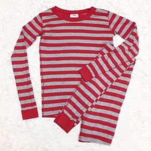 Hanna Andersson Stripe Long John Pj Set 10E